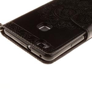Mandala PU kožené pouzdro na Huawei P9 Lite - černé - 5