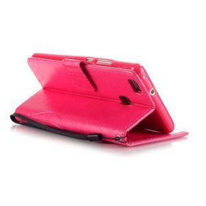 Magicfly knížkové pouzdro na telefon Huawei P9 Lite - rose - 5