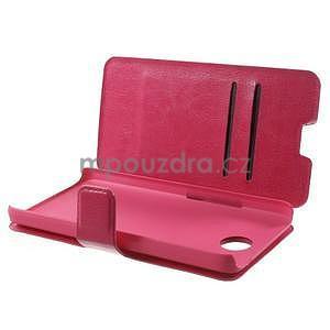 Rose PU kožené pouzdro na Huawei Y635 - 5
