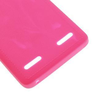 Texturovaný gelový obal na Lenovo A6000 - rose - 5