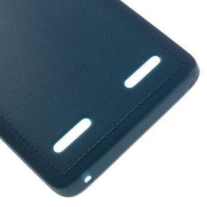 Texturovaný gelový obal na Lenovo A6000 - modrý - 5