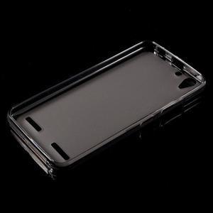 Matný gelový obal na mobil Lenovo Vibe K5 / K5 Plus - šedý - 5