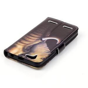 Knížkové pouzdro na mobil Lenovo Vibe K5 / K5 Plus - slon - 5