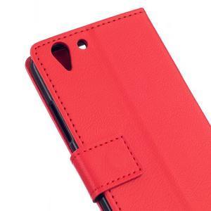 Peněženkové pouzdro na Lenovo Vibe K5 / K5 Plus - červené - 5
