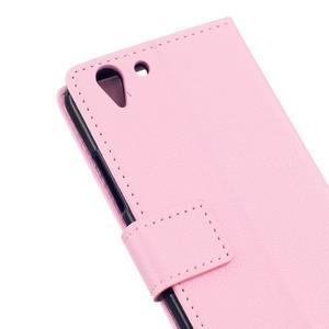 Peněženkové pouzdro na Lenovo Vibe K5 / K5 Plus - růžové - 5