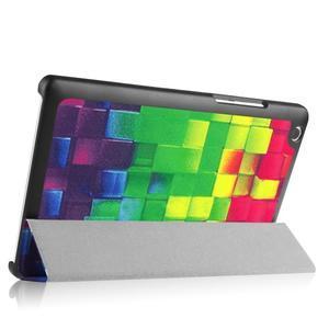 Trifold PU kožené pouzdro na Lenovo Tab 2 A8-50 - 3D kostky - 5