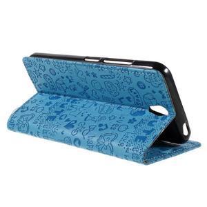 Cartoo peněženkové pouzdro na Lenovo Vibe S1 - modré - 5
