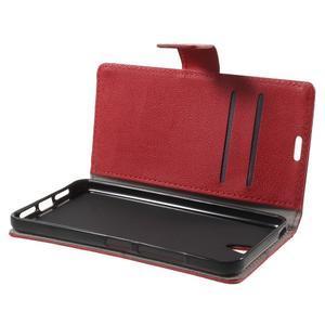 Peněženkové pouzdro na mobil Lenovo Vibe S1 - červené - 5