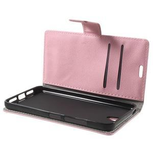 Peněženkové pouzdro na mobil Lenovo Vibe S1 - růžové - 5