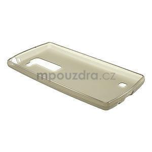 Matný gelový kryt na LG Spirit - šedý - 5