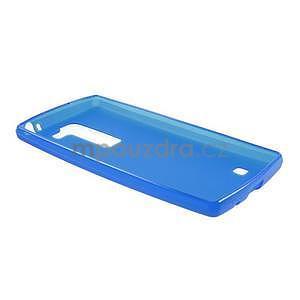 Matný gelový kryt na LG Spirit - modrý - 5