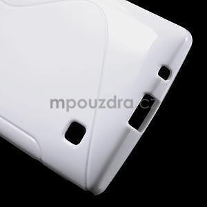 S-line gelový obal na LG Spirit 4G LTE - bílý - 5
