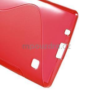 S-line gelový obal na LG Spirit 4G LTE - červený - 5