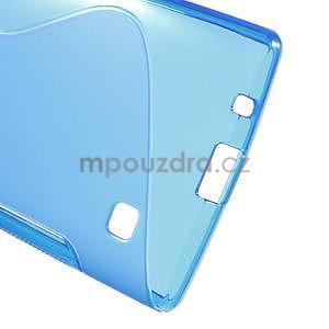 S-line gelový obal na LG Spirit 4G LTE - modrý - 5