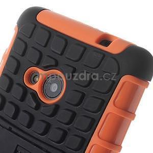 Vysoce odolný obal pro Microsoft Lumia 535 - oranžový - 5