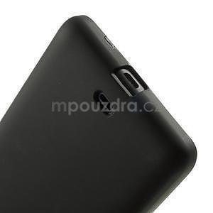 Matný gelový obal Microsoft Lumia 535 - černý - 5
