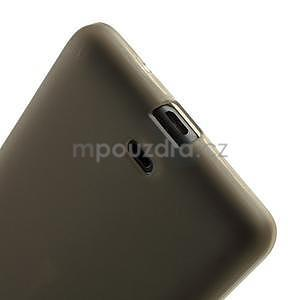Matný gelový obal Microsoft Lumia 535 - šedý - 5