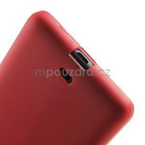 Matný gelový obal Microsoft Lumia 535 - červený - 5