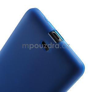 Matný gelový obal Microsoft Lumia 535 - modrý - 5