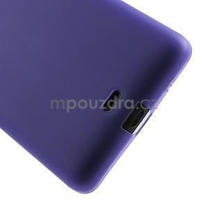Matný gelový obal Microsoft Lumia 535 - fialový - 5