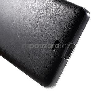 Ultra tenký kryt s jemnými koženkovými zády Microsoft Lumia 535 - černý - 5