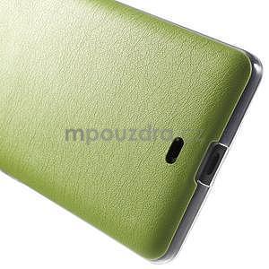 Ultra tenký kryt s jemnými koženkovými zády Microsoft Lumia 535 - zelený - 5