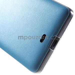Ultra tenký kryt s jemnými koženkovými zády Microsoft Lumia 535 - modrý - 5
