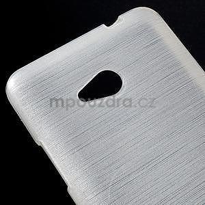 Broušený gelový obal na Microsoft Lumia 640 LTE - bílý - 5