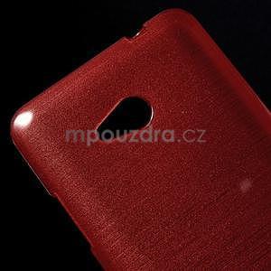 Broušený gelový obal na Microsoft Lumia 640 LTE - červený - 5
