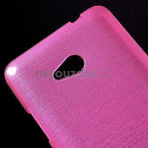 Broušený gelový obal na Microsoft Lumia 640 LTE - rose - 5