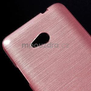 Broušený gelový obal na Microsoft Lumia 640 LTE - růžový - 5
