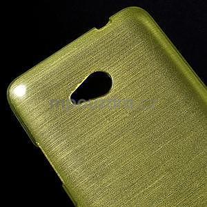 Broušený gelový obal na Microsoft Lumia 640 LTE - zelený - 5