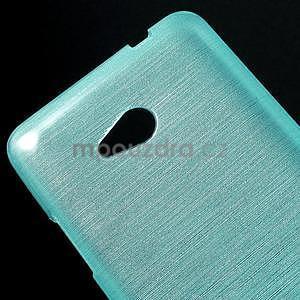 Broušený gelový obal na Microsoft Lumia 640 LTE - modrý - 5