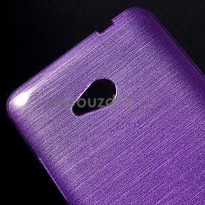 Broušený gelový obal na Microsoft Lumia 640 LTE - fialový - 5