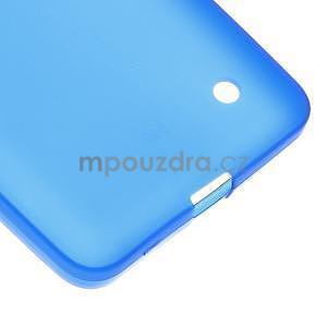 Matný gelový kryt na Microsoft Lumia 640 LTE - modrý - 5