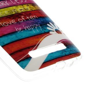 Gelový obal na mobil Asus Zenfone 5 - barvy dřeva - 5