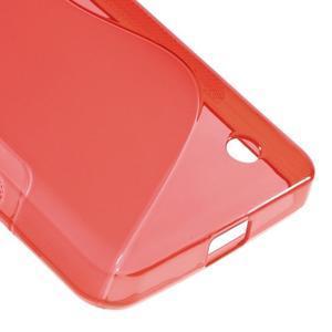 S-line gelový obal na mobil Microsoft Lumia 550 - červený - 5