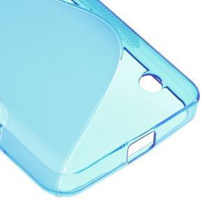 S-line gélový obal pre mobil Microsoft Lumia 550 - modrý - 5
