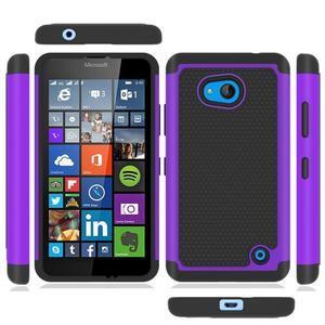 Odolný hybridní kryt na mobil Microsoft Lumia 640 - fialový - 5