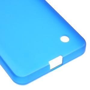 Matný gelový obal na Microsoft Lumia 550 - modrý - 5