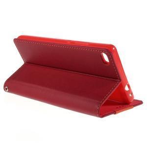 Style peněženkové pouzdro na Huawei Ascend P8 - červené - 5