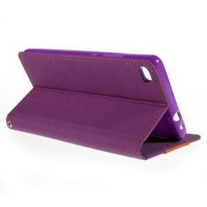 Style peněženkové pouzdro na Huawei Ascend P8 - fialové - 5