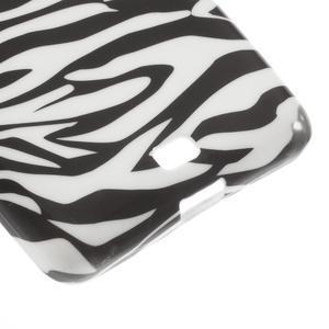 Soft gelový obal na Microsoft Lumia 535 - zebra - 5