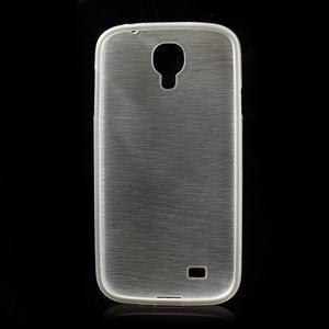 Gelový kryt s broušeným vzorem na Samsung Galaxy S4 - bílý - 5
