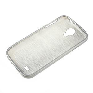 Gelový kryt s broušeným vzorem na Samsung Galaxy S4 - šedý - 5