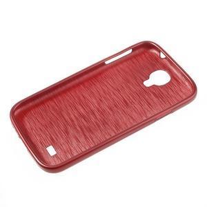 Gelový kryt s broušeným vzorem na Samsung Galaxy S4 - červený - 5