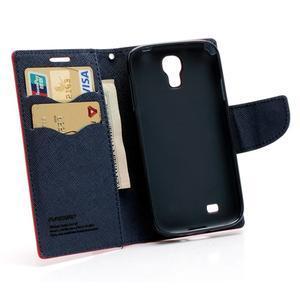 Fancy peněženkové pouzdro na Samsung Galaxy S4 - červené - 5