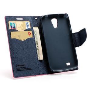 Fancy peněženkové pouzdro na Samsung Galaxy S4 -  rose - 5