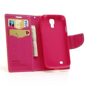 Fancy peněženkové pouzdro na Samsung Galaxy S4 - žluté - 5