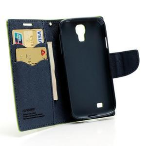 Fancy peněženkové pouzdro na Samsung Galaxy S4 - zelené - 5